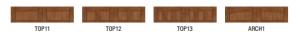 Clopay canyon ridge top panel window designs 1