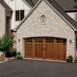 Clopay Canyon Ridge Wood Overlay Carriage Door