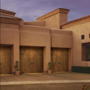Clopay Canyon Ridge Cypress Cladding Overlay Carriage Door