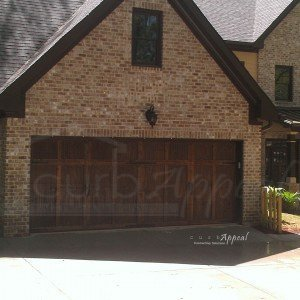 wood garage door
