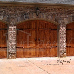 Refaced carriage style garage door.