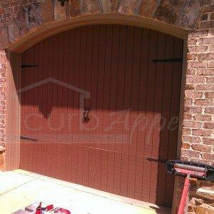Existing garage door before refacing.