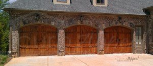 Refaced carriage style garage doors