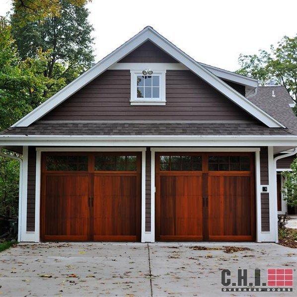 Faux Wood Look Garage Doors
