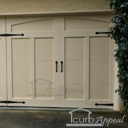 Carriage style overlay garage door atlanta