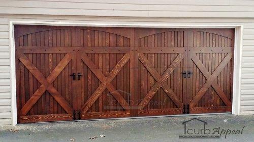 Wood, carriage style garage door. Built and installed in metro Atlanta
