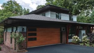 Modern Style Wood Garage Doors Installed around Atlanta, GA.